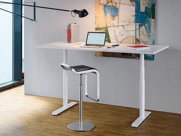 Tischgestell Horun weiß, 62.5-127.5x107.5-180x60 cm
