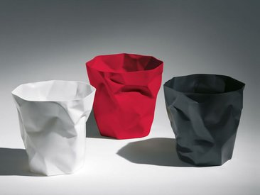 Abfallkorb Bin Bin Klein & More rot, Designer John Brauer, 31 cm
