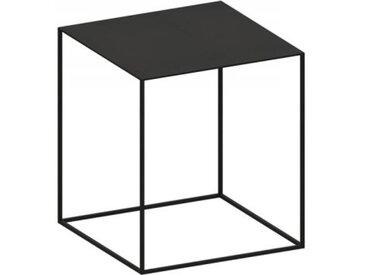 Beistell-Tisch Slim Irony Low Table Zeus schwarz, Designer Maurizio Peregalli, 46x41x41 cm