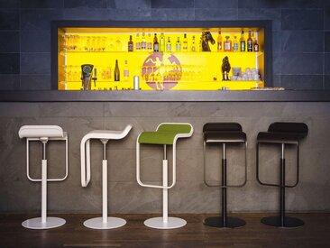 Barhocker Lem niedrig Lapalma weiß, Designer Shin, Tomoko Azumi, 63-75x37x42 cm