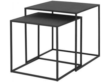 Beistelltische (2er-Set) Fera Blomus schwarz, 35/40x35/40x35/40 cm