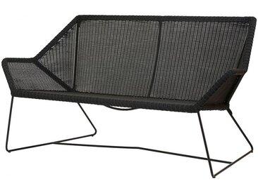 Loungecouch Breeze Cane-line schwarz, Designer Christina Strand, Niels Hvass, 78x154x76 cm