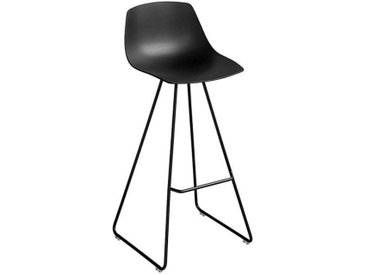 Schemel Miunn Lapalma schwarz, Designer Karri Monni, 99x43x43 cm