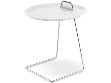 Tablett-Tisch Porter weiß, Designer Designstudio speziell®, 52 cm