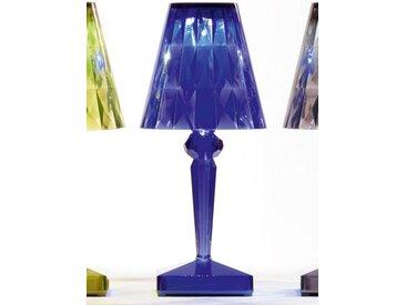 Kartell LED-Tischspot Battery blau, Designer Ferruccio Laviani, 22x13x13 cm