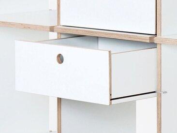 Nils Holger Moormann Schubbox H 13,6 cm weiß, 13.6x33x29.4 cm