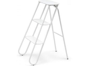 Tritt-Stockerl Bukto Frost weiß, Designer Bønnelycke MDD, 71x39x56 cm