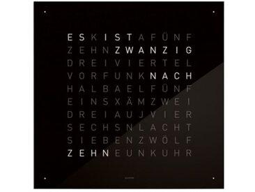 Wanduhr Qlocktwo schwarz, Designer Biegert & Funk, 45x45x4.5 cm