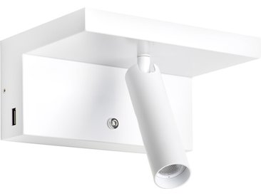 LED-Wand-Lampe mit Ablage Hilton weiß, 8.5x18x12.7 cm