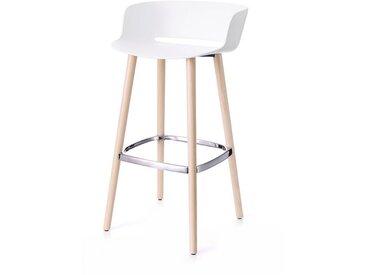 Barhocker Babila Pedrali weiß, Designer Odoardo Fioravanti, 92x50x45 cm