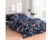 Bettwäsche Laurena, nachtblau, 140x200 cm