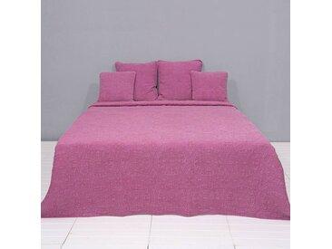 Clayre & Eef | Tagesdecke Jazzlynn stonewashed rosa Baumwolle 150.00x150.00 cm | NADUVI