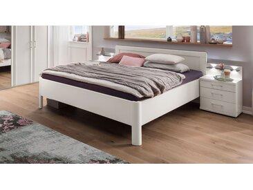 Weißes Doppelbett 180x190 cm mit gerundetem Rahmen - Cavallino - Seniorenbett