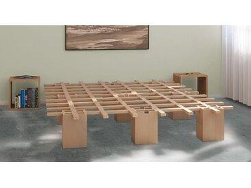 Innovatives Bettsystem Tojo - 180x200 cm - Buche natur - Designerbett