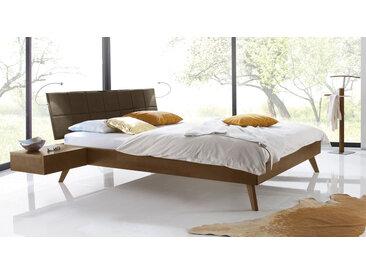 Skandinavisches Designbett Andros - 140x200 cm - Buche nussbaumfarben - Massivholzbett