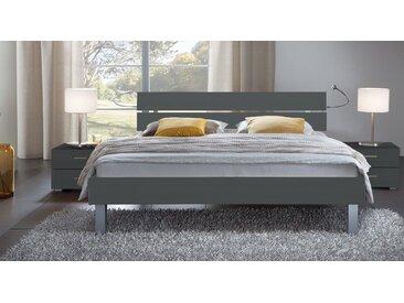 Dekorbett Belluno - 140x200 cm - anthrazit - Fußhöhe 20 cm - Designerbett