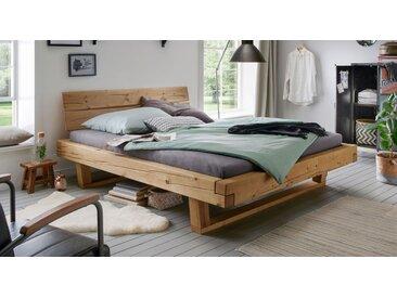 Balkenbett 200x200 cm aus Fichtenholz bis 200 kg - Basiliano - Massivholzbett