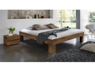 Liege Lucca Komforthöhe - 140x200 cm - Kernbuche natur Holz - Massivholzbett