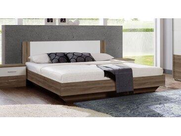 Bett 140x200 cm im Schwebedesign Schlammeiche Dekor - Mandola - Designerbett
