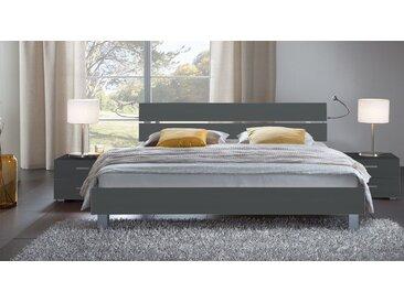 Holzdekorbett Treviso - 120x200 cm - anthrazit - Designerbett