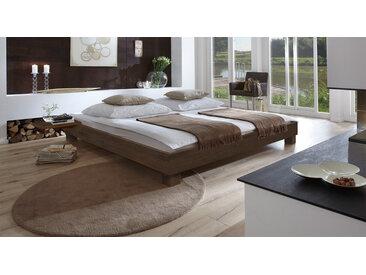 Einzel-Liege aus Holz Alicante - 140x200 cm - Buche wengefarben - Massivholzbett