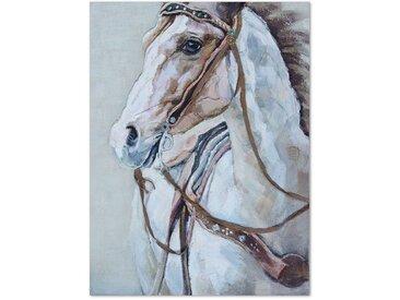 Hochwertiges Wandbild 90x120 cm in dezenter Farbgebung - Horse - BETTEN.de