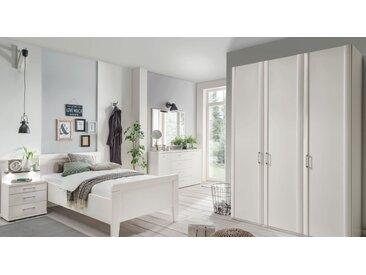 Preiswerter weißer Schlafzimmerschrank 3-türig - Calimera - Schrank