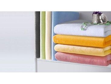 Nicki-Velours-Spannbetttuch weiß 140x200 cm für den Winter - Spannbettlaken