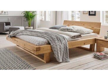 Balkenbett 140x200 cm aus Fichtenholz bis 200 kg - Basiliano - Massivholzbett