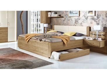Doppelbett in Komforthöhe mit zwei Schubladen 200x200 cm - Toride - Komfortbett