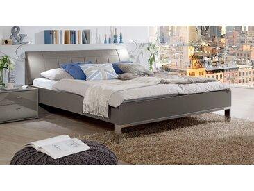 Havannafarbenes Komfortbett mit 43 cm Höhe in 140x200 cm - Dilly - Designerbett