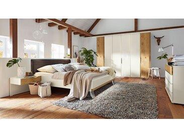 MUSTERRING Schlafzimmer Saphira 4-tlg. in Weiß und Balkeneiche - Schlafzimmer Set