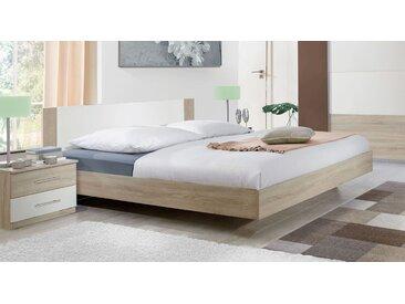 Preiswertes Schwebebett 160x200 cm in Eiche natur - Malwa - Designerbett