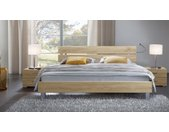 Holzdekorbett Treviso - 120x200 cm - Eiche natur - Designerbett