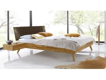 Skandinavisches Designbett Andros - 160x200 cm - Kernbuche natur - Massivholzbett