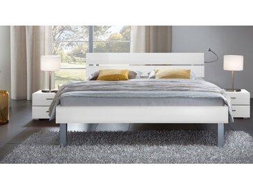 Dekorbett Belluno - 180x200 cm - weiß - Fußhöhe 25 cm - Designerbett