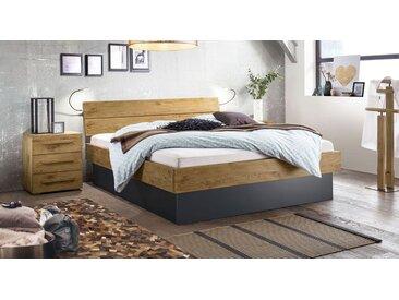 Wildeichenbett mit großem Bettkasten 180x200 cm - Boa Vista - Stauraum-Bett