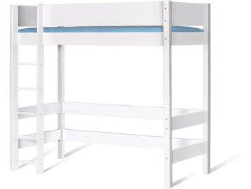 Hochbett für Jugendliche & Studenten 140x200 cm weiß - Kids Town - Kinderbett