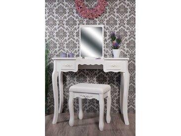 Schminktisch mit klappbarem Spiegel und Hocker  -  indoor