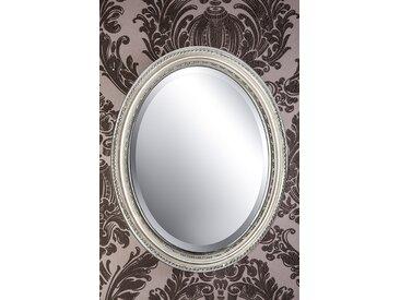 Spiegel oval silber DUNJA 47 x 37 cm  -  indoor