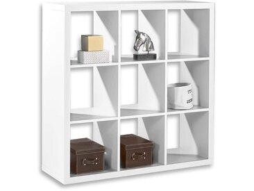 Bega Raumteiler Würfelregal 3 Style 112x112x39 cm mit 9 Fächern Weiß
