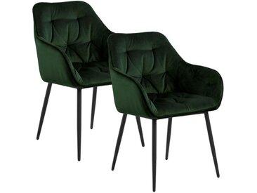 AC Design Brooke Armlehnstuhl 2er-Set Grün