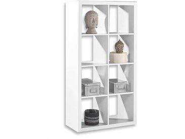 Bega Raumteiler Würfelregal 5 Style 77x147x38 cm mit 8 Fächern Weiß