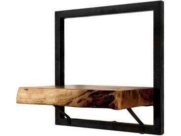 HSM Collection Levels Live Edge Wandregal 32x22x32cm Natur/Schwarz