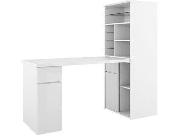 Maja Möbel Mini-Office Schreibtisch 169,5x64,8x150cm Weiß