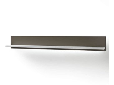MCA Trento Wandboard 184x22x25cm Weiß/Edelstahl