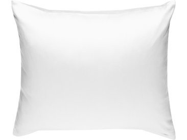Mako Satin Kissenbezug uni weiß 80x80 cm
