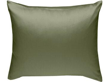 Mako Satin Kissenbezug uni olivgrün 50x50 cm
