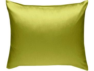 Mako Satin Kissenbezug uni grün 80x80 cm