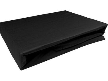 Mako Satin Spannbettlaken schwarz 90x200 cm